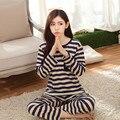 Новая Осень с длинным рукавом пижамы женщина костюм рубец pijamas mujer зимний дом ткани досуга Lovelys M-2XL женская sprot наборы