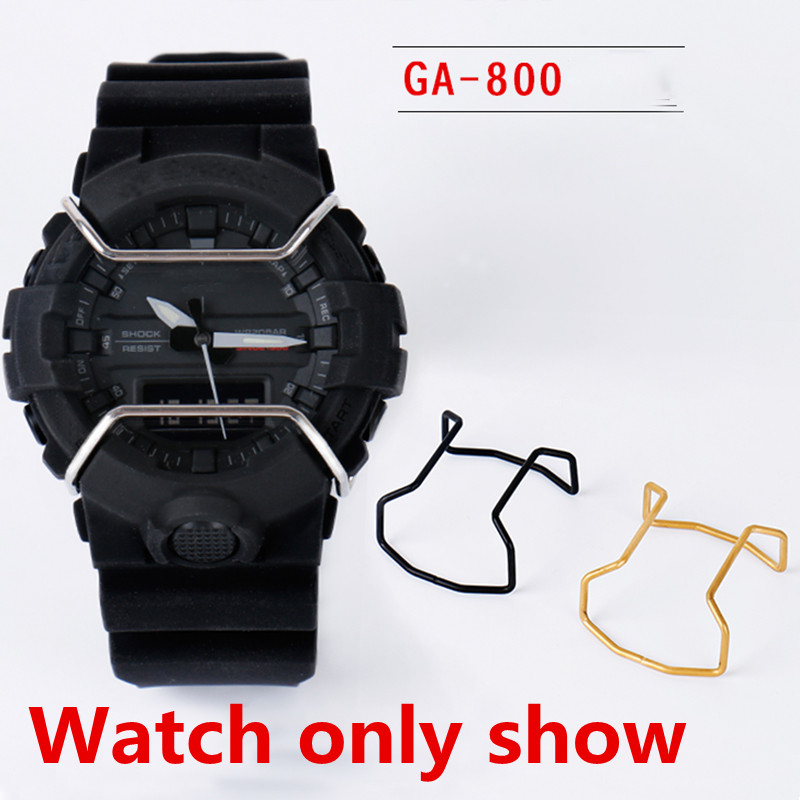 promo code 6a71f 338a7 US $12.24 5% OFF|Watch Accessories Metal Bumper For Casio G SHOCK GA 800  GBA 800 Stainless Steel Bumper Black gold silver-in Watchbands from Watches  ...