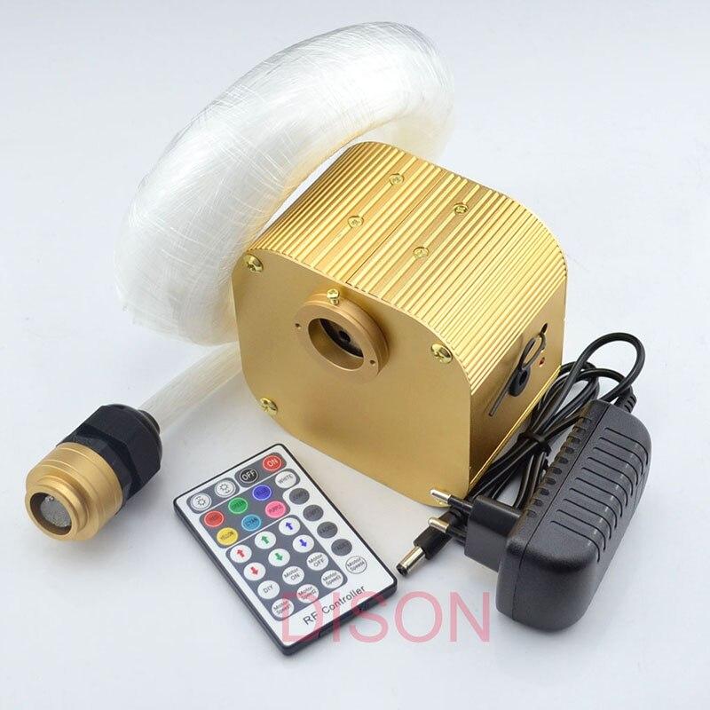 16 W мерцают RGBW падающая звезда светодиодный Оптическое волокно свет комплект 0,75 мм 200 шт * 4 m + 1 мм 50 шт * 2 м + 2 мм 10 шт * 2 м с 28key RF управления