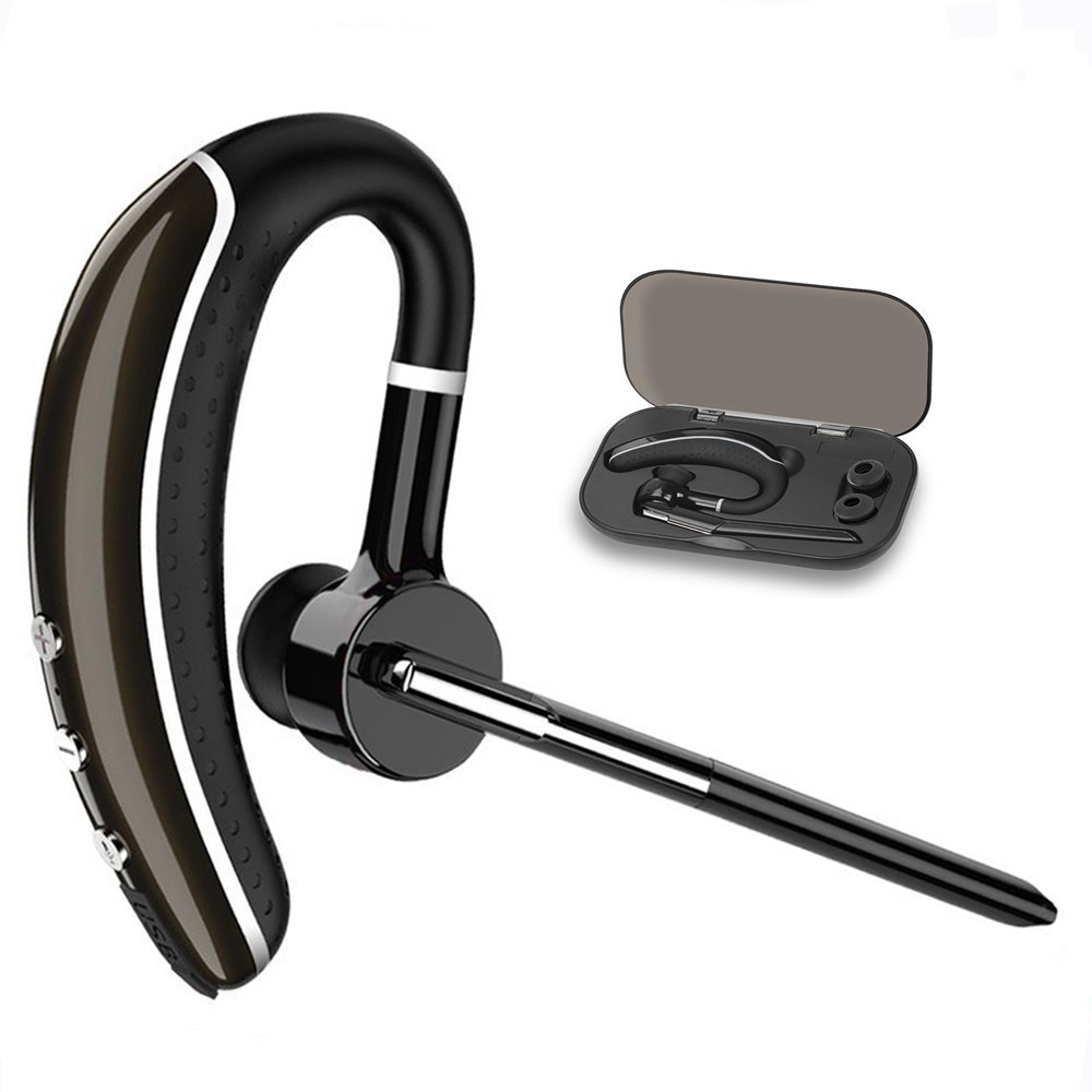 HBUDS Bluetooth Headset,Hands Free headset Wireless Business Bluetooth Earpiece with Noise Reduction for cell phone-Headset+Case new csr8635 blutooth hands free casque bests bluetooth 4 1 wireless earpiece skype noise canceling bluetooth headset with mic