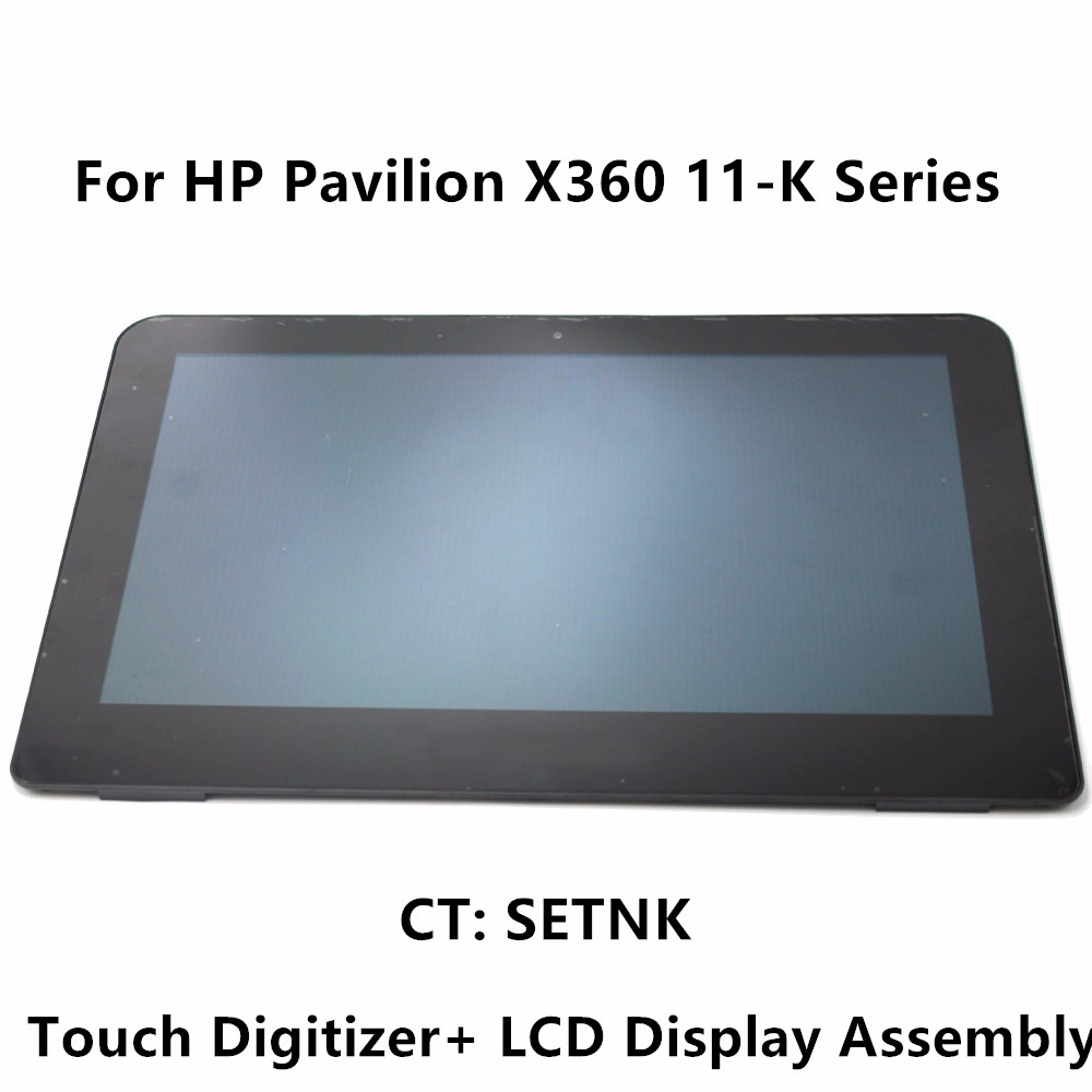 11.6'' For HP Pavilion X360 11-K Series Laptop Touch Screen Digitizer Glass + LCD Display Panel Assembly with Bezel CT: SETNK