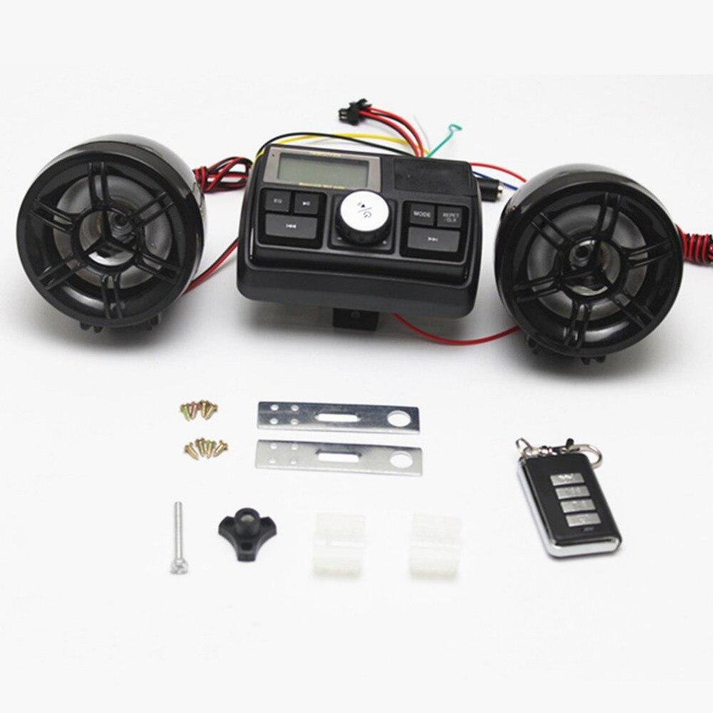 Player Bike Audio-Sound-System Fm-Radio Speakers Waterproof USB 12V With Remote-Control
