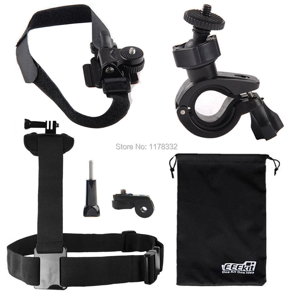6in1 for SONY Action Cam HDR-AS100V/AS200V,Shoulder/Handlebar/Helmet Mount