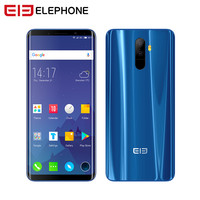 Elephone U Cell Phone Android 7.1 5.99 Inch FHD Screen Curved Display Smartphone Quad core 4+64GB Fingerprint Phone Telephone