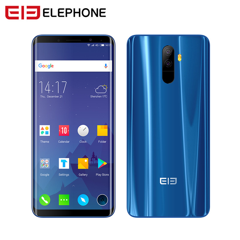 Elephone U Elephone U Cell Phone Android 7.1 5.99 Inch FHD Screen Curved-Display Smartphone Quad-core 4+64GB Fingerprint Phone