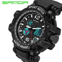 Fashion SANDA Sports Brand Watch Men S Digital Quartz Wristwatches Outdoor Military LED Casual Watches Hour