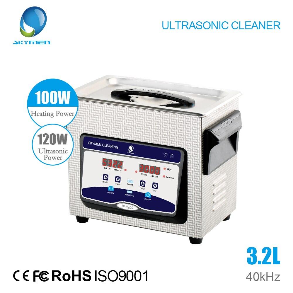 Portamaletas digitales limpiador ultrasónico con desgasificación 3.2l 120 W para el tablero principal laboratorio Médicos aparato
