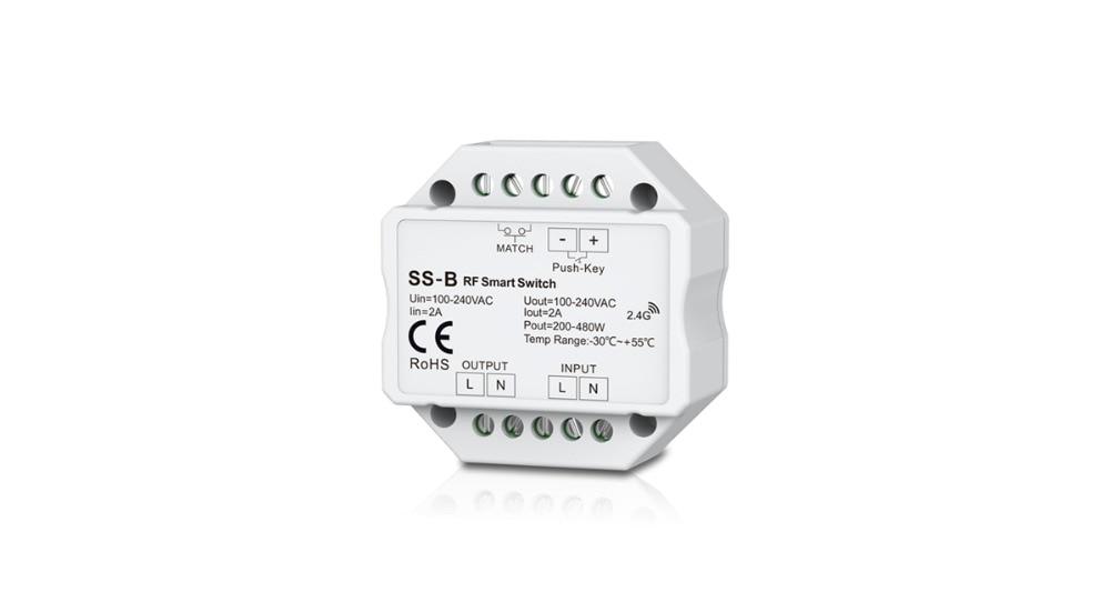 Rgb-controller Clever Ac Rf Schalter & Druckschalter Ss-b Ac100-240v Rf Smart Schaltausgang 100-240vac 2a 480 Watt Rf Smart Switch Mit Relais Ausgang Licht & Beleuchtung