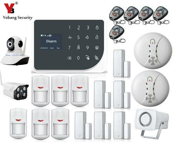 YoBang Security WIFI GSM font b Alarm b font System Arm Off Burglar font b Alarm