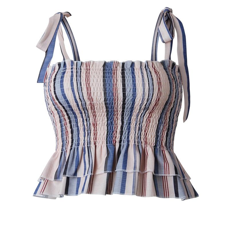 Crop Top Short Cami Tank Top Female Cute Striped Tube Women Tops 2019 Sexy Bandage Slim Cropped Tops Tank Women Feminino Bustier