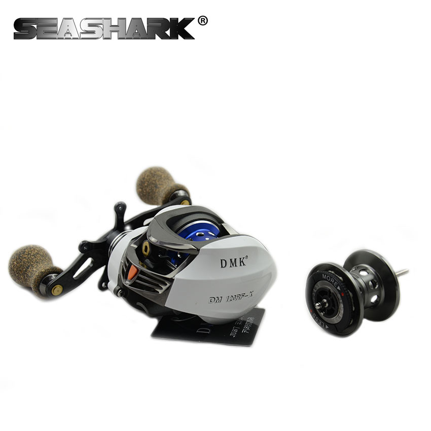 SEASHARK New baitcasting reel 14 ball bearings carp fishing gear Left Right Hand bait casting fishing reel double cups 18bb 1 ball water drop wheel bearings double brake baitcasting reel fishing gear right left hand bait casting fishing wheel