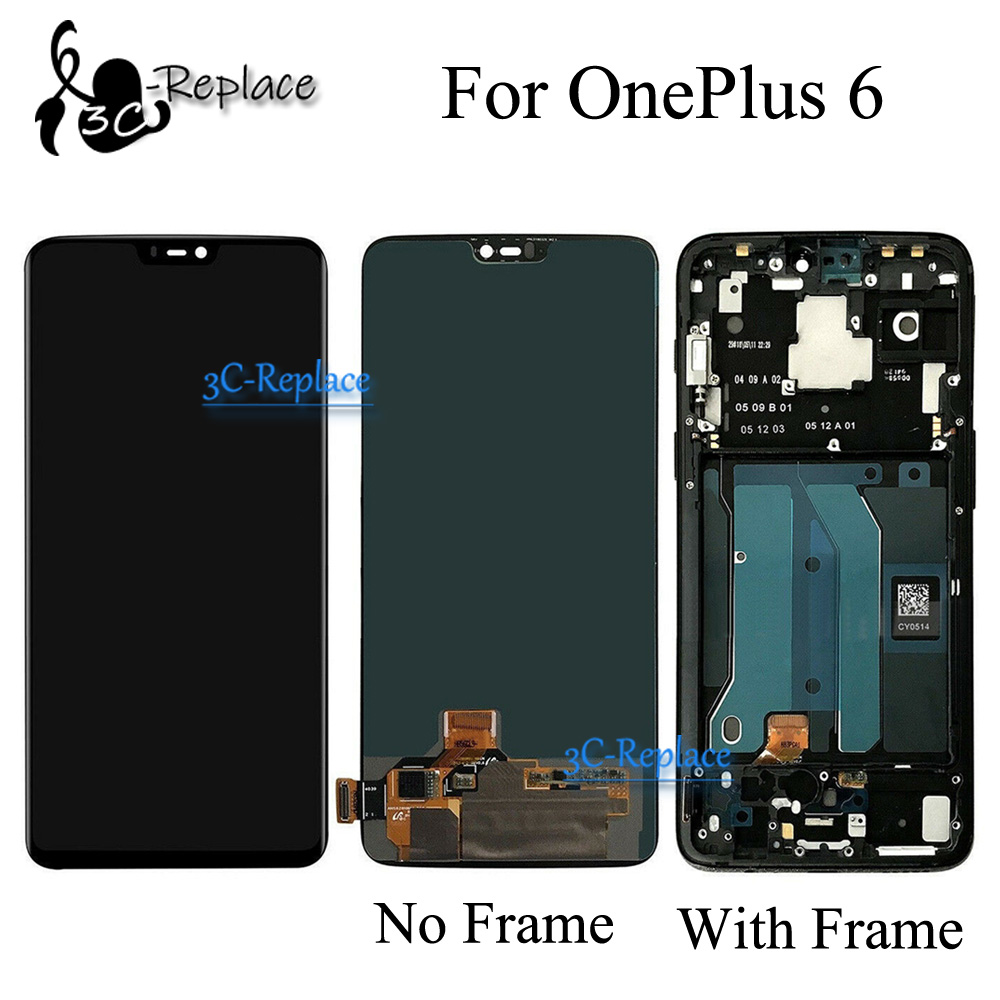 Original Black 6 3 inch For OnePlus 6 1 6 A6000 A6003 LCD DIsplay Touch Screen