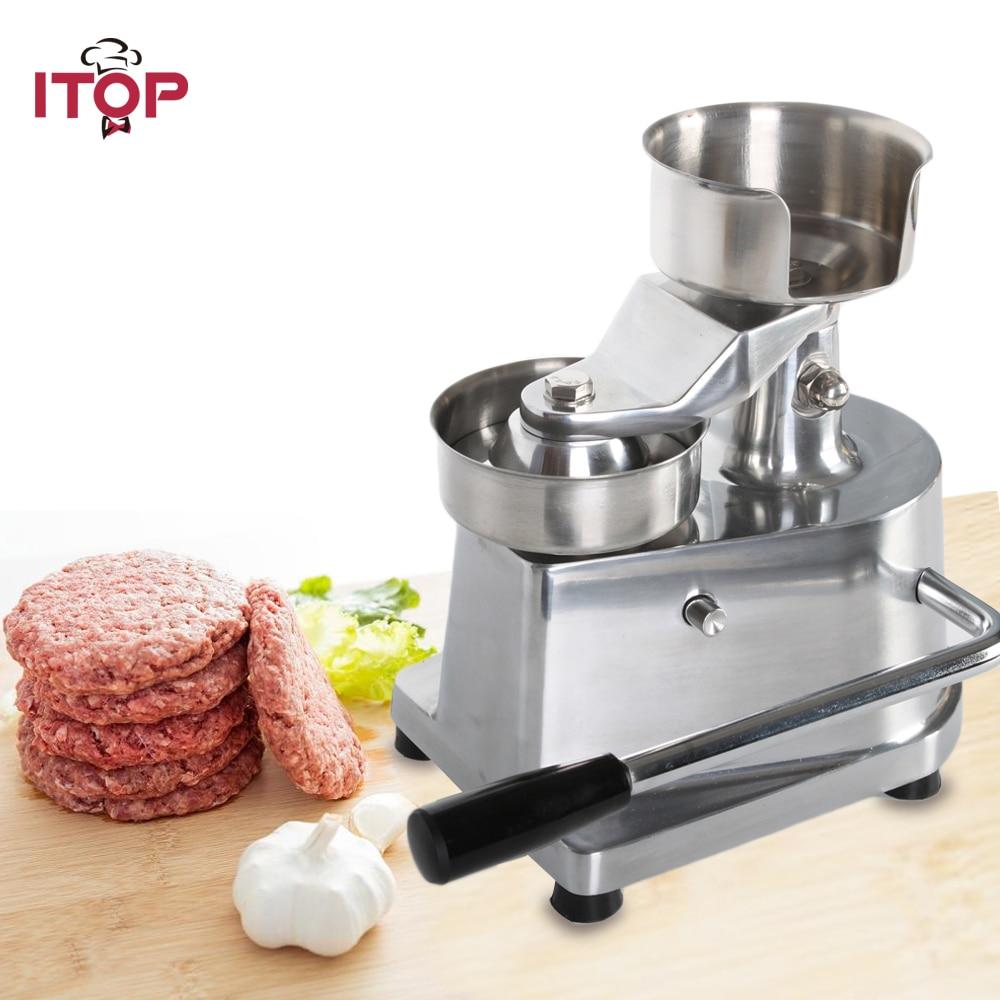 ITOP 100mm 130mm Hamburger Meat Press Patty Maker Forming Machine Burger Press With 500pcs oil paper