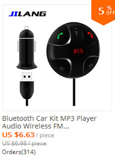 Bluetooth Car Kit MP3 Player Audio Wireless FM Transmitter USB Support SD Tf Card LCD Display Car Charger For iPhone 5 5S 6 6S