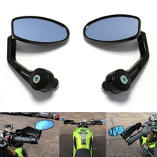 1 Pair Motorcycle Rearview Mirrors 360 Degree Rotation Handle Bar Mirror Universal Auto All aluminum