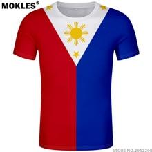 be5ce1f3e2 PHILIPPINES t shirt diy free custom name number phl t-shirt nation flag ph  republic