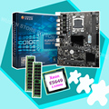 ПК сборка HUANAN ZHI X58 LGA1366 материнская плата со скидкой материнская плата с процессором Intel Xeon E5649 2 53 GHz RAM 16G (2*8G)
