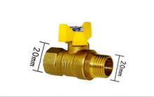free shipping G 1/2 20mm  Heavy-Duty Brass Shut-Off Valve Pipe fittings 2 slide gate valve s x spg shut off spa hot tub pipe jacuzzi pool pond