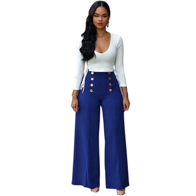 f66e5860a29d0 Nueva Moda Elegante Blusas Y pantalones Anchos de la pierna Pantalones de  Dos Piezas conjunto de