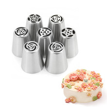 DIY Cake West Point Mouth Rose Flowers Shape Pastry Bag Nozzles Lcing Piping Nozzles Russian Piping Tips цены онлайн