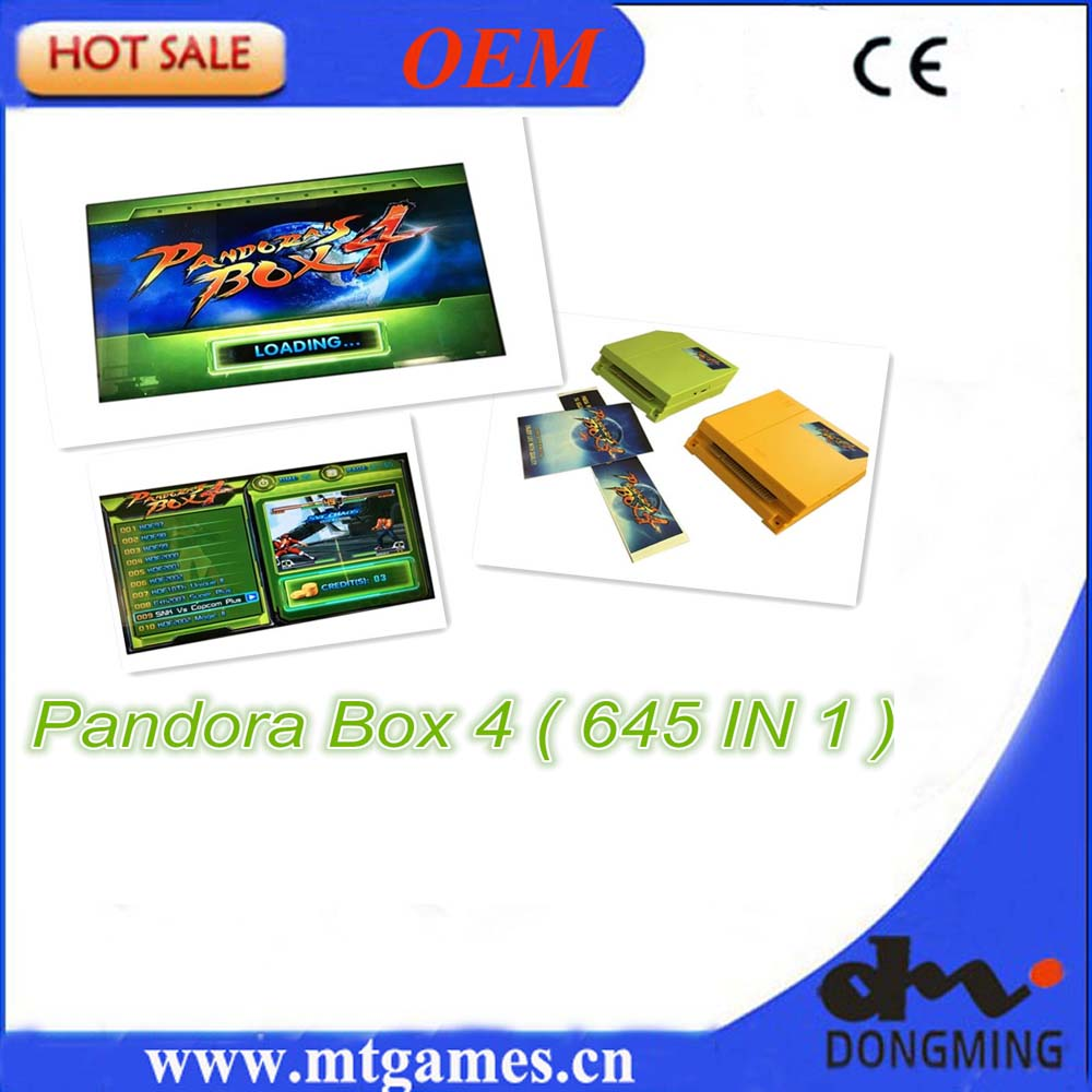 New Arrival Original Pandora Box 4 645 in 1  Jamma Arcade Game cartridge /jamma Multi game board support CRT and LCD for arcade led lights mini arcade bundle machines 645 in 1 joystick game consoles with jamma multi games pandora 4 game pcb board