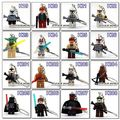 Star War Handmade Princess Leia Key Chain Yoda bb8 DIY Customize Keychains Building Blocks Toys Compatible