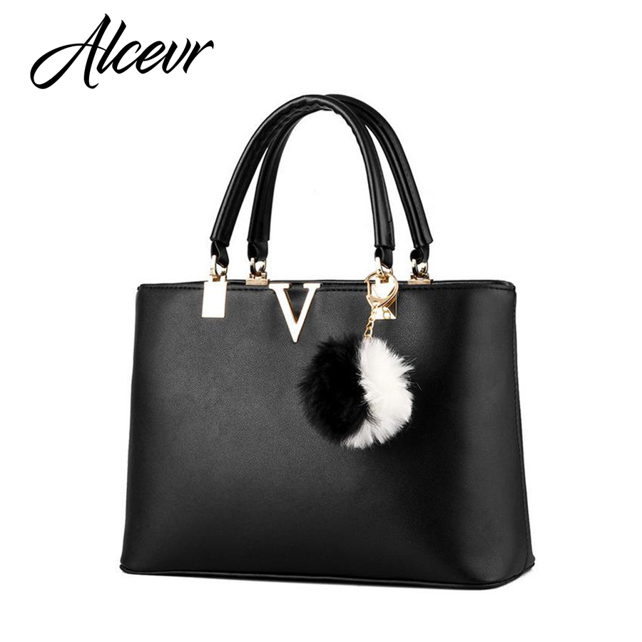 ALCEVR Woman Handbags V Brand Leather Messenger Bags Female Evening Top handle Bags luxury handbags women