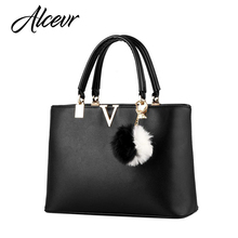 ALCEVR Woman Handbags V Brand Leather Messenger Bags Female Evening Top-handle Bags luxury handbags women bags designer bolsa