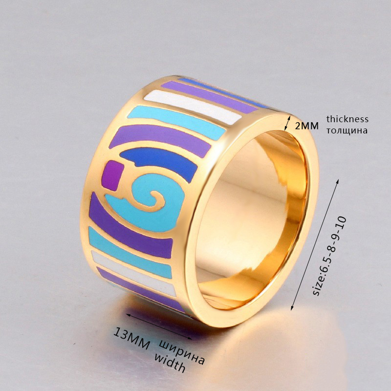 Retro elegant classic stainless rings for women 1
