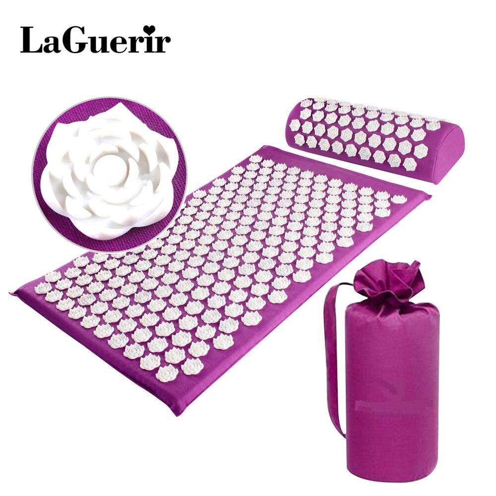 LaGuerir Akupressur Rose Form Massage Kissen Akupressur Matte Tasche Entlasten Stress Schmerzen Spike Yoga Matte Kissen Drop verschiffen