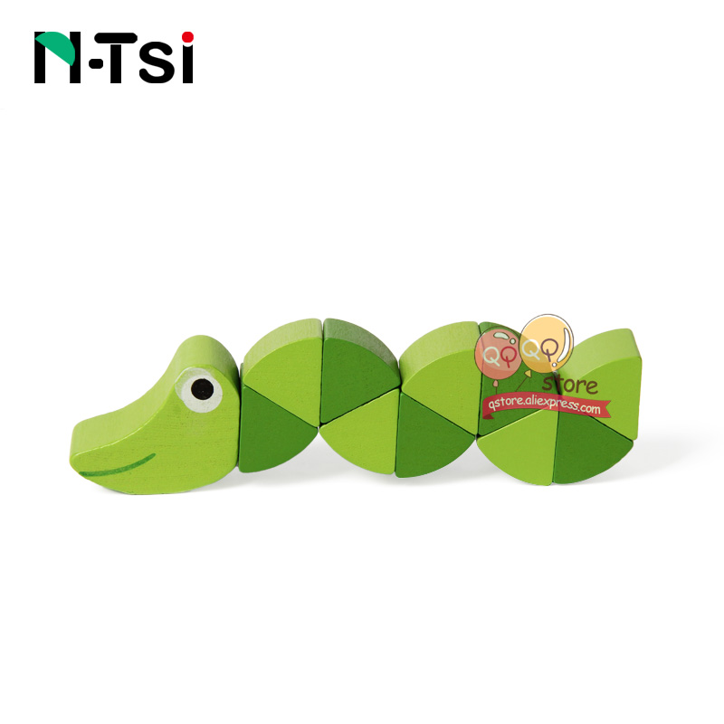Colorful Wooden Worm Puzzles Kids Learning Educational Didactic Baby Development Toys Fingers Game For Children Montessori Gift #4