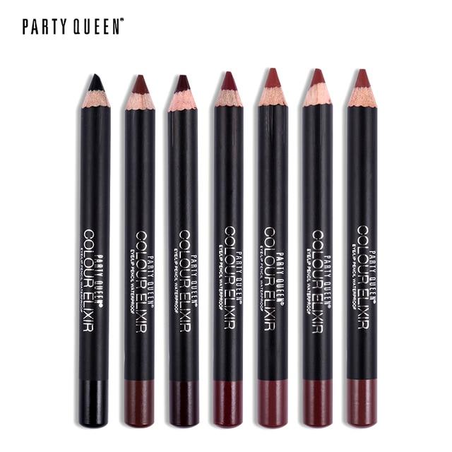 Party Queen 20 Colors ELIXIR Lip Liner Pencil Functional Eyebrow Eye Lip Makeup Waterproof Cosmetic Lipliner Pen Paris Style 3