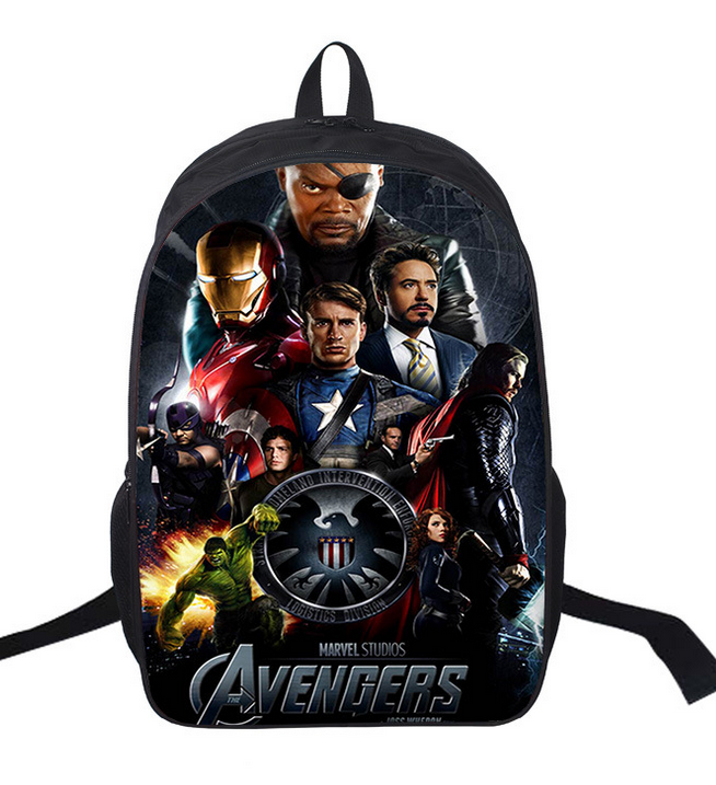 16-inch Mochila School Kids Backpack Captain America Iron Man Bag Avengers Backpack Children School Bags For Boys