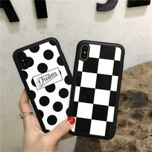 For Apple iPhone 7 6 6s plus Luxury Fashion Painted Graffiti mirror Phone Cases For iPhone X 8 8plus Silicone soft back Cover
