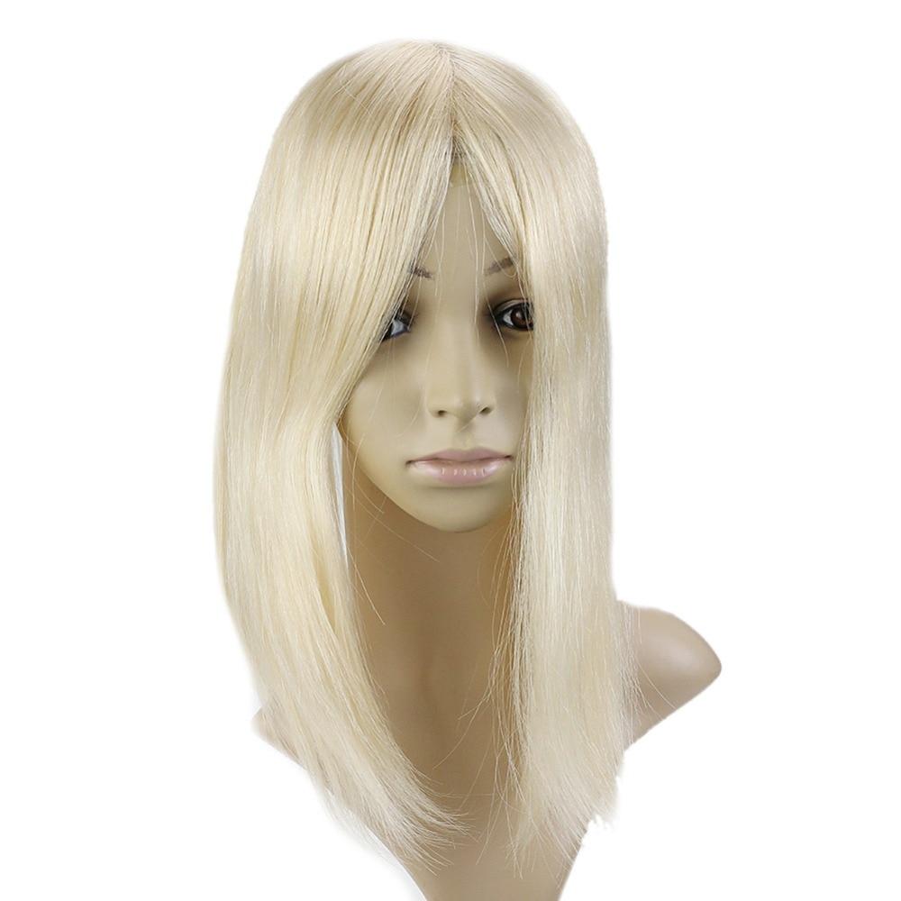 Full Shine 20 40g Remy Hair Topper Crown Hair Piece 613 12 6cm Crown For Women