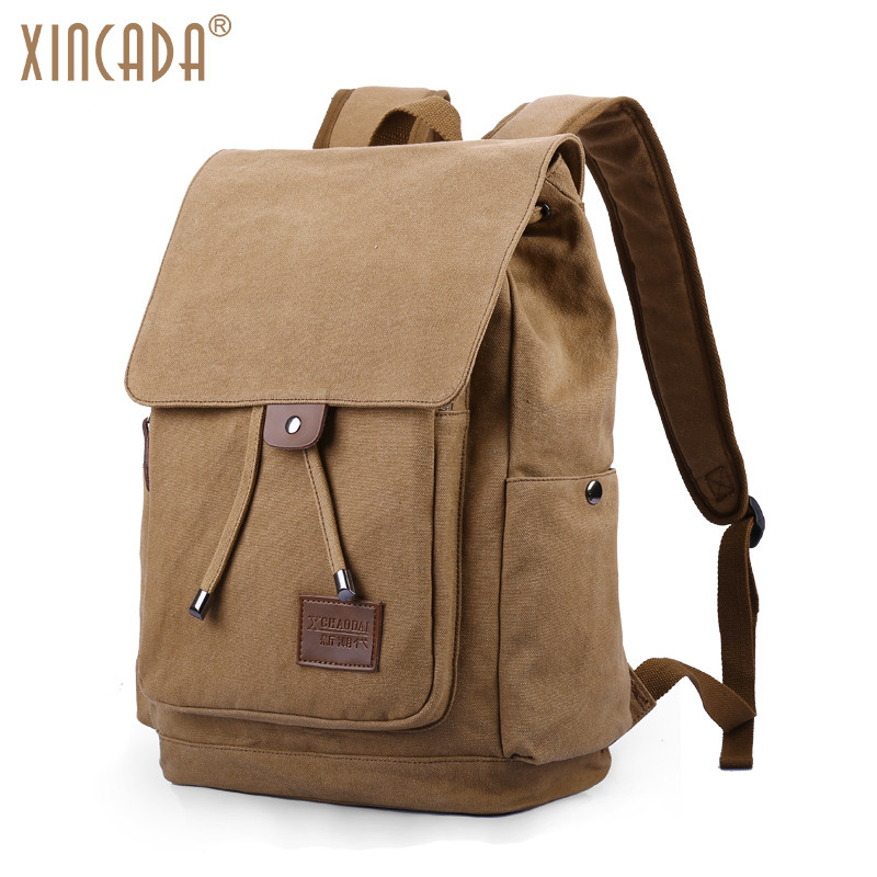 XINCADA College Bags Canvas Laptop Backpack High Capacity Casual Daypacks School Bookbag Vintage Rucksack for Work Travel newest hmong embroidered women backpack black canvas ethnic casual travel backpack fashion vintage laptop bags