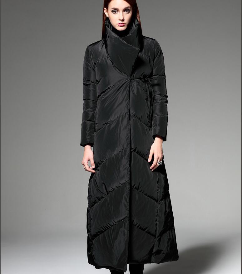 c2ba708e1f4f4b X-długi kobiety zima płaszcz puchowy długi dół kurtki zimowe gruba kaczka  kobiet płaszcz puchowy