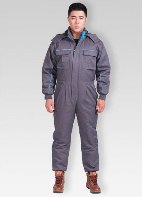 Wholesales Autumn Winter Thicken Warm Cotton Jumpsuit Sets Worker Clothing Safety Mens Workwear Working Clothes Coveralls