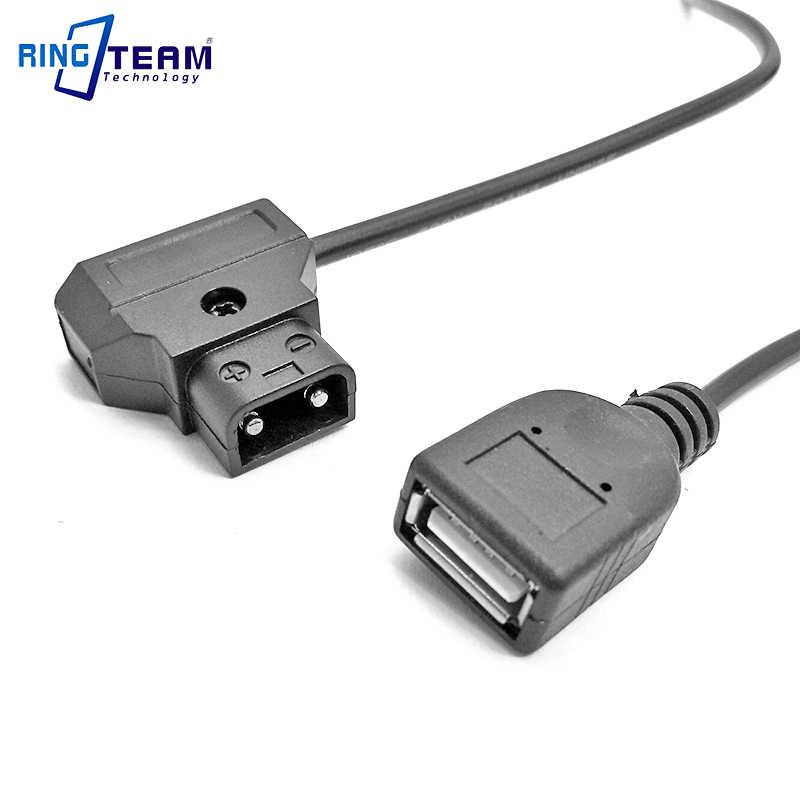Batería de Antón d-tap p-tap conector macho a cc 5V hembra Cable de carga de alimentación USB para Apple iPhone Android teléfono móvil MP3 MP4