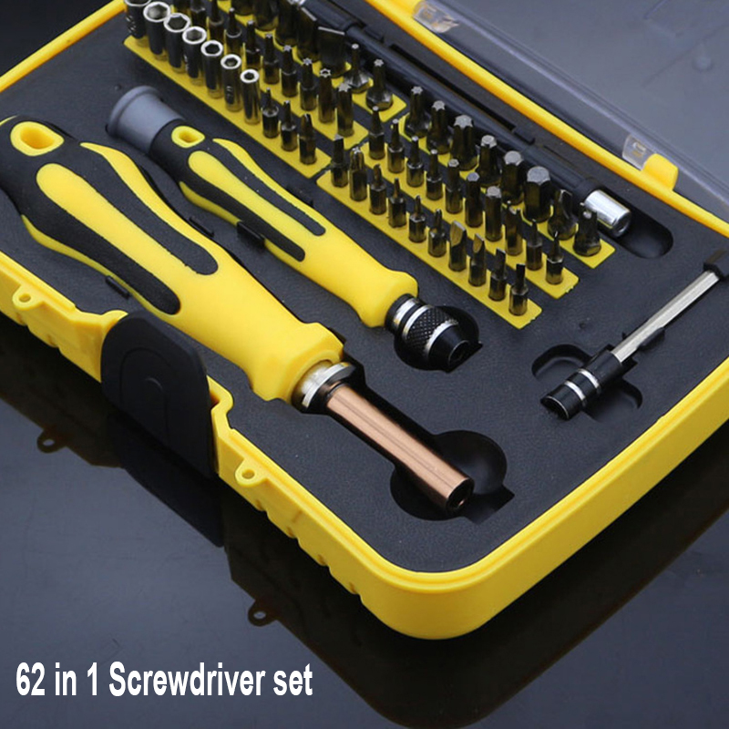 Screwdriver Set 62 in 1 Sets Multi-function Computer Mobile Cellphone Digital Electronic Device Repair Home Tools Bit 2 in 1 cellphone