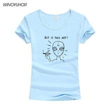 Alien Smoking But Is It Art Print T Shirts Women Tshirt Tumblr Women's T-shirt O-neck Cotton Graphic Tees Women Tee Shirt Tops alien print tee