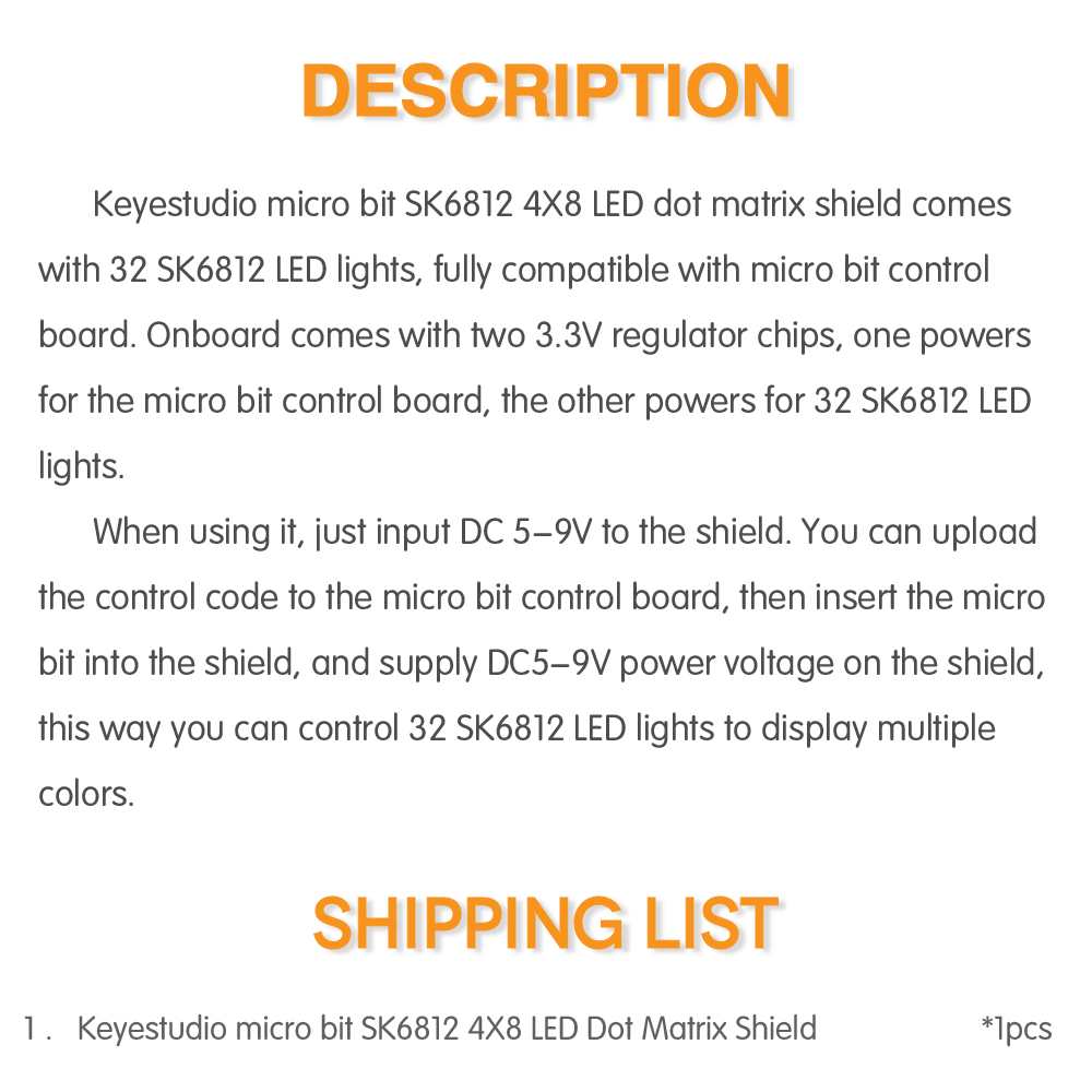 KS0315 micro bit SK6812 4X8 LED (8)