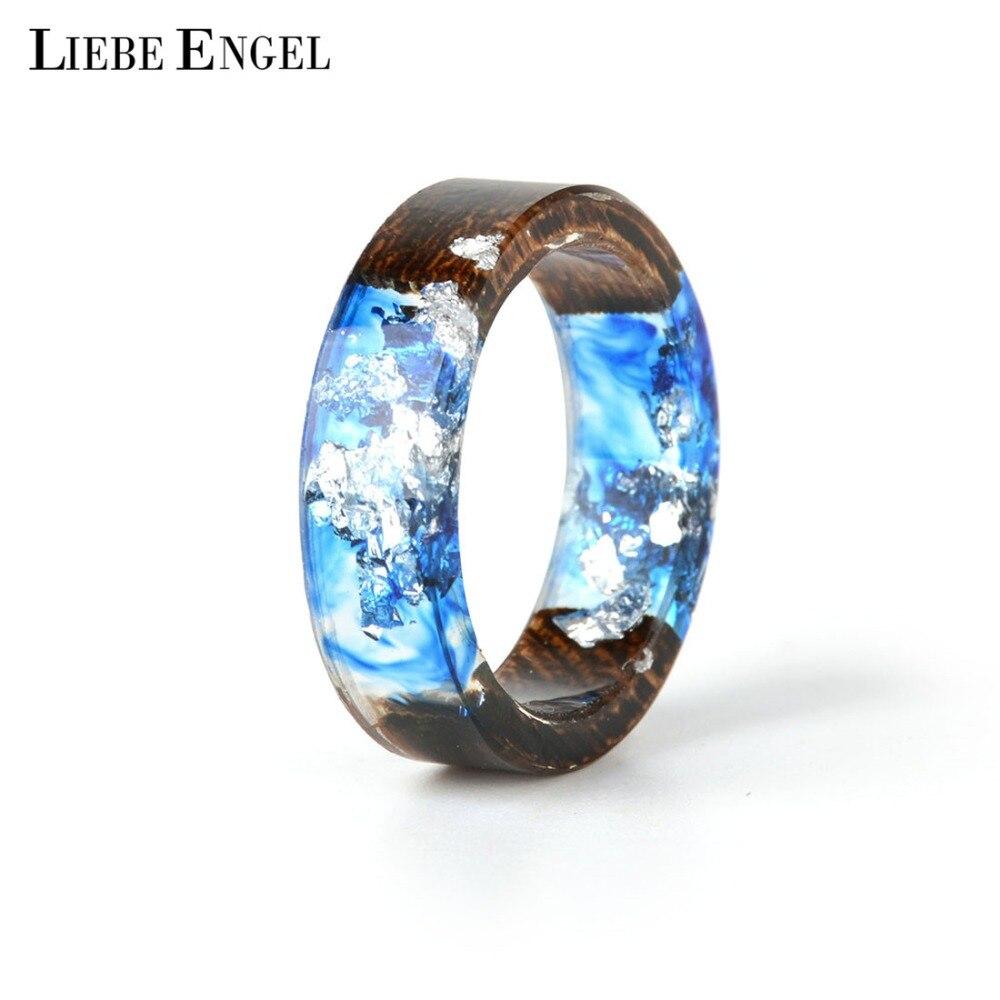 8Seasons New Design Rings For Women Men Clear Wood Resin Ring
