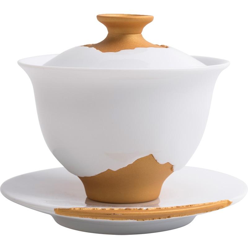 TANGPIN ceramic gaiwan teacup handmade ceramic chawan chinese kung fu tea sets drinkware 200ml in Teaware Sets from Home Garden