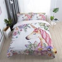 Pronovias fairy unicorn children duvet cover set king queen double full twin single size bed linen set