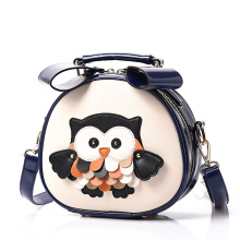 Lovely Owl Printing Ladies Mini Shoulder Bag Sweet Style Casual Small Hand Bag Fashion PU Cute