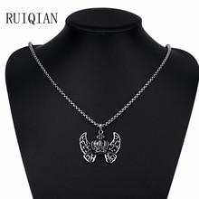 316L Titanium Steel Long Necklace Men Jewelry Vintage Steampunk Women Necklaces Pendants Collares Mujer Colier Bijoux