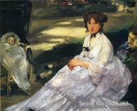 Art Painting by Edouard Manet In the garden High Quality Hand painted