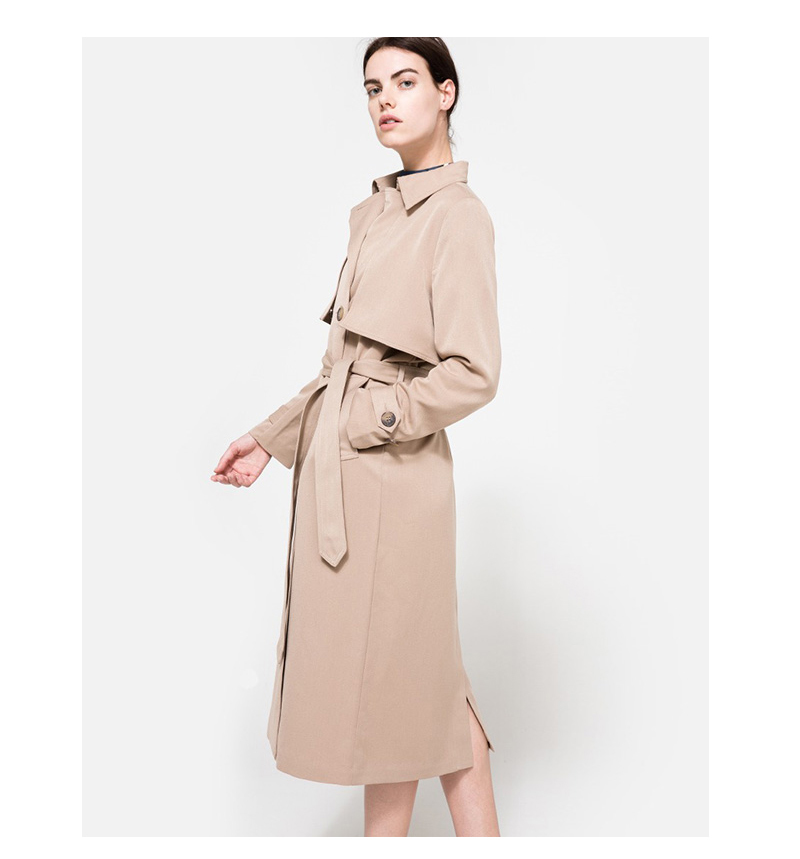 HDY Haoduoyi 19 Autumn New High Fashion Brand Women Classic Double Breasted Trench Coat Waterproof Raincoat Business Outerwear 10