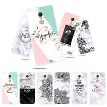 цена на Fashion Marble Flower Phone Case For Xiaomi Redmi5 5 Plus Soft TPU Back Cover For Xiaomi Redmi 5 Plus letter Silicone Cases